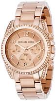 Michael Kors MK5263 Women's Blair Chronograph Stainless Steel Bracelet Strap Watch, Rose Gold