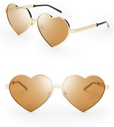 Wildfox Couture Mirrored Lolita Deluxe Sunglasses, 59mm