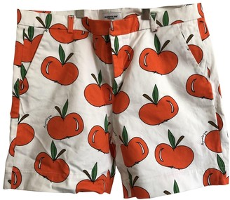 Au Jour Le Jour White Cotton Shorts for Women