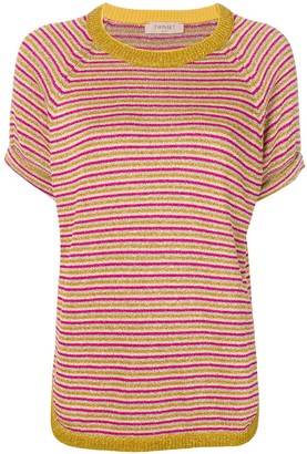 Twin-Set striped knitted top