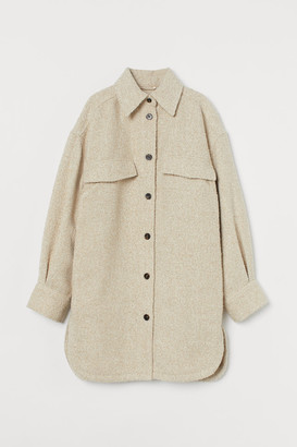 H&M Long Shirt Jacket - Beige