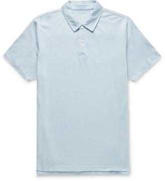 Derek Rose Ramsay Stretch Cotton And Tencel-Blend Pique Polo Shirt