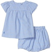 Polo Ralph Lauren Gingham Top Bloomer Set (Infant) (Blue Multi) Girl's Active Sets