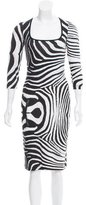 Just Cavalli Zebra Print Sheath Dress