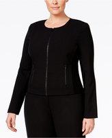 Calvin Klein Plus Size, Fit Solutions, Zip-Front Jacket