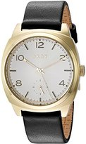 DKNY Women's 'Broome' Quartz Stainless Steel and Leather Casual Watch, Color:Black (Model: NY2537)