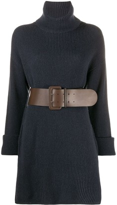 Brunello Cucinelli Belted Waist Dress