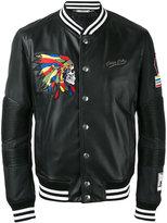 Philipp Plein bomber jacket - men - Lamb Skin/Nylon/Viscose - L