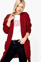 Boohoo Alice Edge To Edge Midi Cardigan