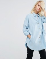 Asos Soft Twill Oversized Shirt