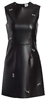 Burberry Women's Coleta Faux Leather Grommet Dress
