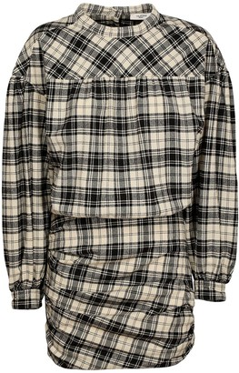 Etoile Isabel Marant Faber Wooly Check Cotton Blend Dress