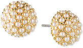 lonna & lilly Gold-Tone Imitation Pearl Cluster Stud Earrings