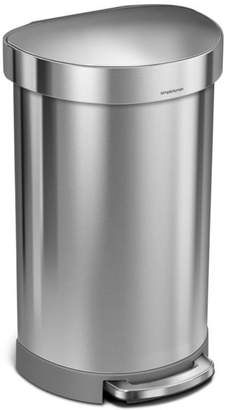 Simplehuman 45L Semi-Round Step Can with Liner Rim