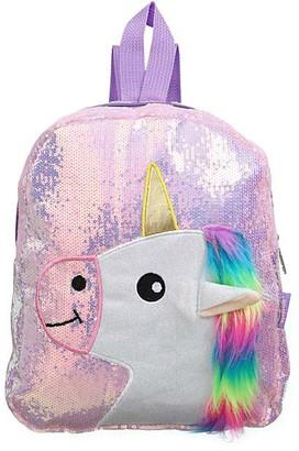 Ella & Elly Women's Backpacks Purple - Purple Sequin Unicorn Backpack