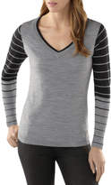 Smartwool Lightweight Stripe V-Neck Sweater - Women's