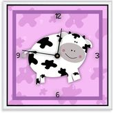 Green Leaf Art Happy Cow Decorative Art Clock