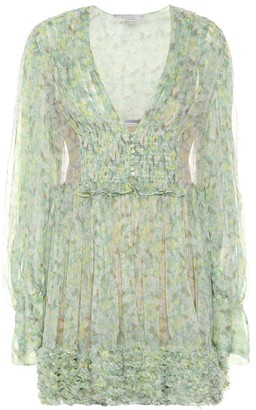 Stella McCartney Valda floral silk minidress