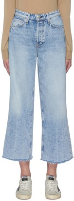 Rag & Bone/JEAN 'Maya' High Rise Flare Leg Crop Jeans