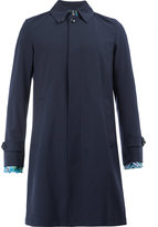 Herno contrast cuff mid-length coat - men - Silk/Spandex/Elastane/Wool - 48