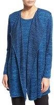 Caroline Rose Lightweight Brushed-Knit Vest, Blue Lagoon, Plus Size