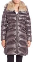 Dawn Levy Gabardine Fur-Trimmed Parka