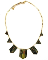 House of Harlow 1960 - Green Gold Triangle Necklace