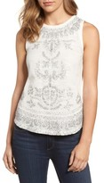 Lucky Brand Women's Embroidered Woven & Knit Tank