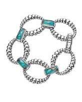 Lagos Maya Fluted Crystal & Chrysocolla Doublet Bracelet