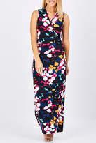 NEW bird by design Womens Maxi Dresses The Sleeveless Wrap Maxi Dress Floral