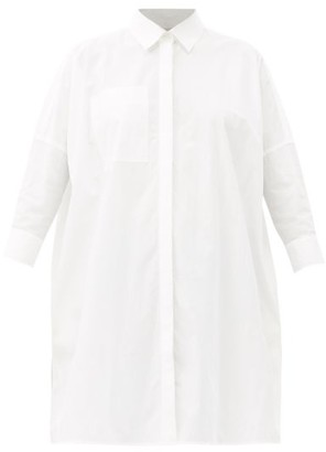 Co Longline Cotton-blend Poplin Shirt - White