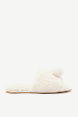 Ardene Faux Sherpa Slide Slippers