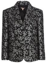 Michael Kors Multicoloured metallic jacquard wool-blend blazer
