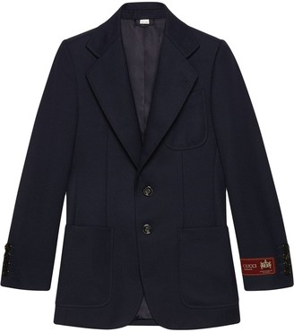 Gucci Logo Label Wool Jacket