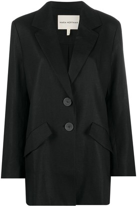 Mara Hoffman Oversized Mid-Length Blazer Jacket