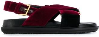 Marni Velvet Crossover Sandals