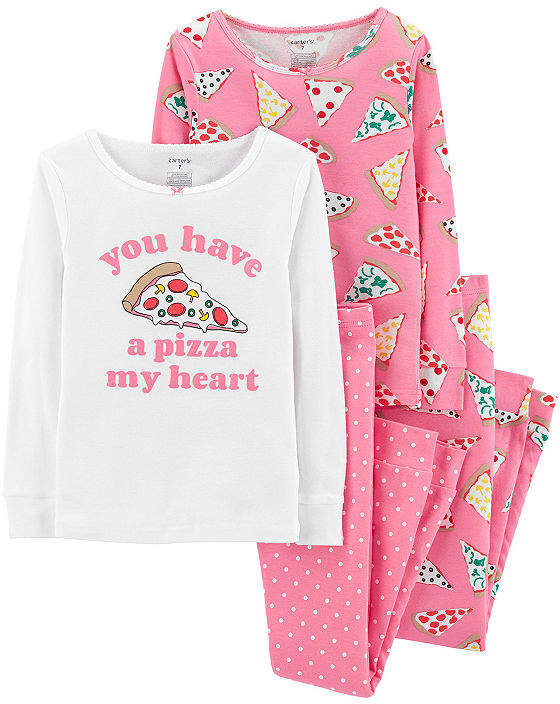 Carter's Cotton Sleep 4-pc. Pajama Set- Girl