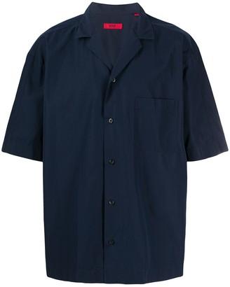 HUGO BOSS Short-Sleeved Cotton Shirt