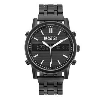 Kenneth Cole Reaction Men's ANA-Digit Quartz Watch with Stainless-Steel Strap