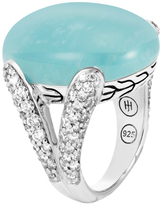 John Hardy Women's Classic Chain Celestial Orb Ring, Sterling Silver, 24x18MM Amazonite