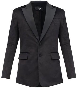 Amiri Silk Peak-lapel Single-breasted Velvet Jacket - Black