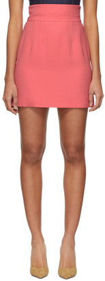 Dolce & Gabbana Pink Silk Crepe Miniskirt