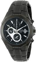 Pulsar Chronograph Steel Bracelet Black Dial Men's watch #PF3961