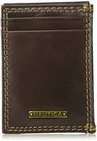Nautica Men's Rfid Blocking 100% Leather Magnetic Front Pocket Wallet