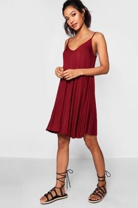 boohoo Basic V Neck Swing Dress