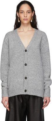 Acne Studios Grey Wool Cashmere V-Neck Cardigan