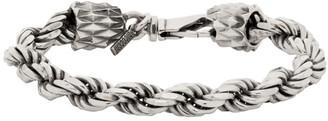 Emanuele Bicocchi Silver Rope Chain Bracelet