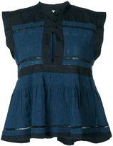 Etoile Isabel Marant two-tone peplum blouse