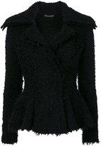 Alexander McQueen peplum waist blazer - women - Polyamide/Polyester/Cashmere/Wool - M