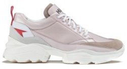 HUGO Chunky trainers in mixed materials with double tongue